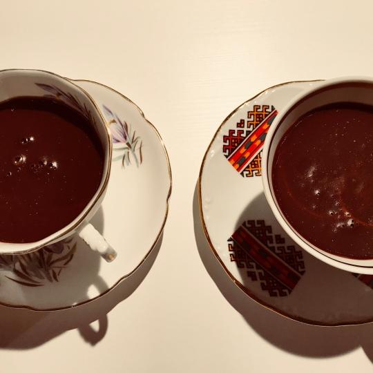 chocolate pudding tea cups