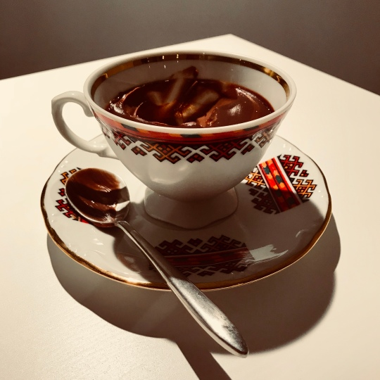 chocolate pudding tea cup