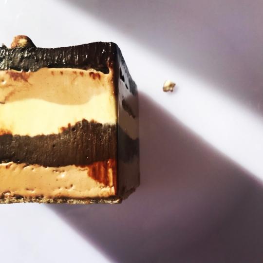 Gâteau Marjolaine had layers of hazelnut cake, chocolate ganache, nutella buttercream and vanilla buttercream.
